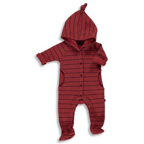 Moda Infantil. Pelele de algodón de rayas