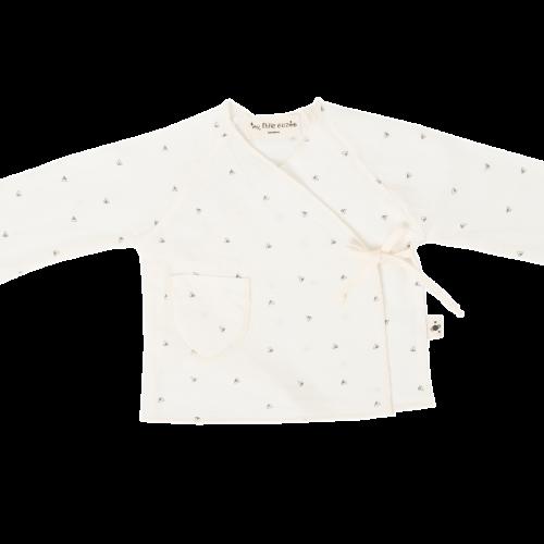 Camisa estampada de viella cruzada por delante - Moda bebé