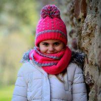 Conjunto de Monnuage para niño compuesto de gorro, guantes y cuello en rojo