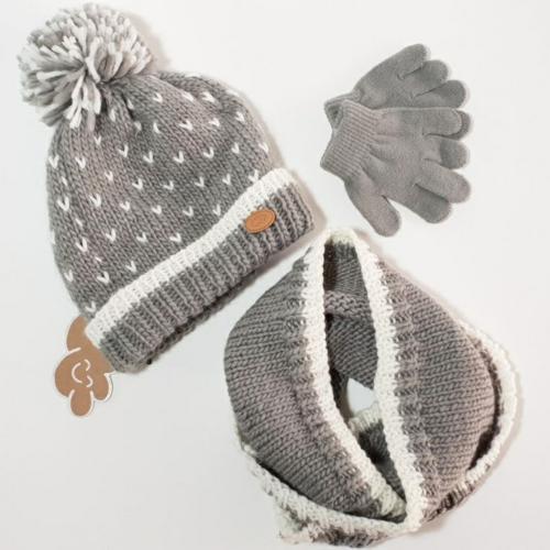 Conjunto de Monnuage de gorro, guantes y cuello
