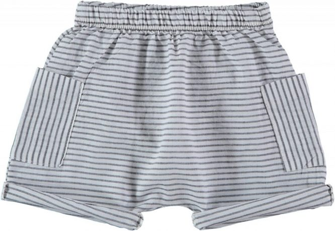 My Little Cozmo pantalones bermudas baggy de rayas