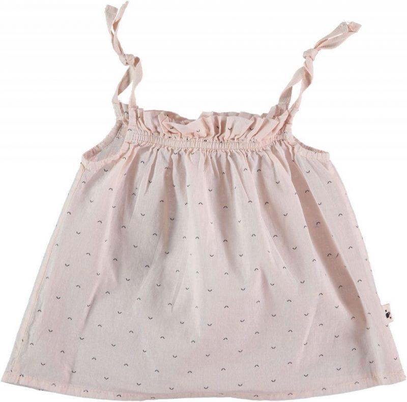 My Little Cozmo precioso top estampado en rosa pálido