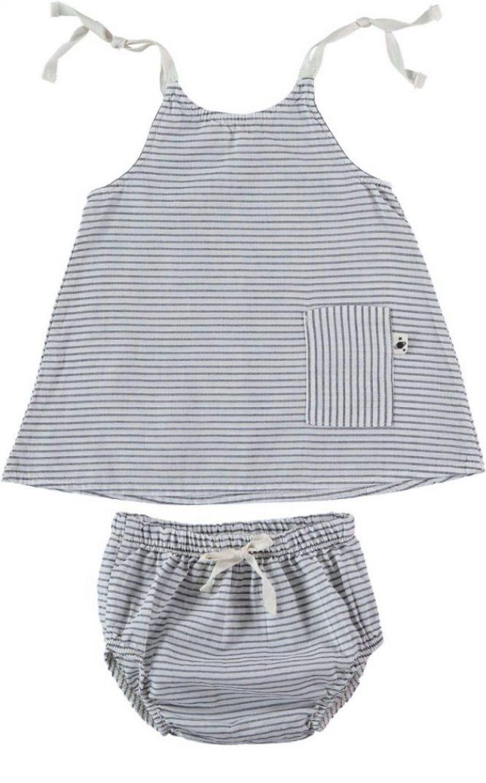 My Little Cozmo Vestido de tirantes de rayas con culotte