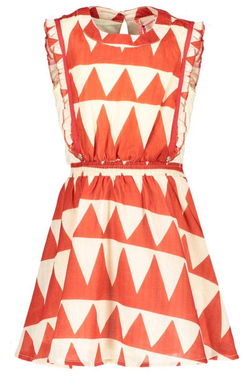 Nono Vestido estampado con mezcla de tejidos