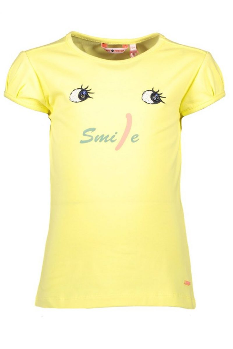 NONO camiseta de manga corta amarilla con detalles en paillettes