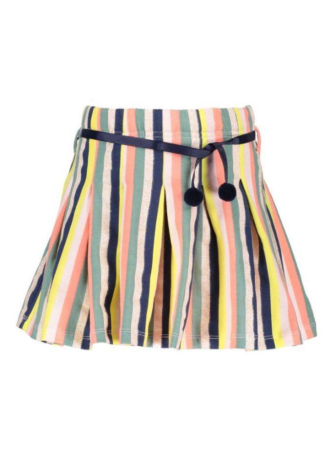 NONO Divertida falda de rayas multicolores