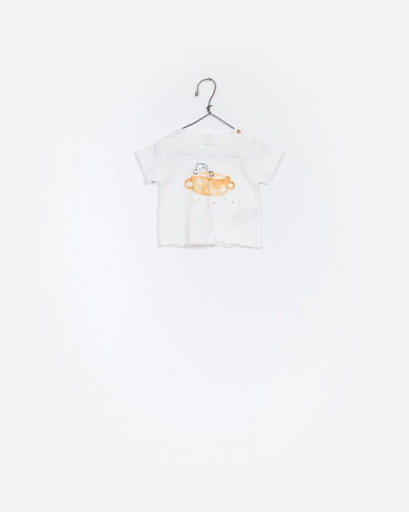 Play Up camiseta estampada de manga corta de algodón orgánico