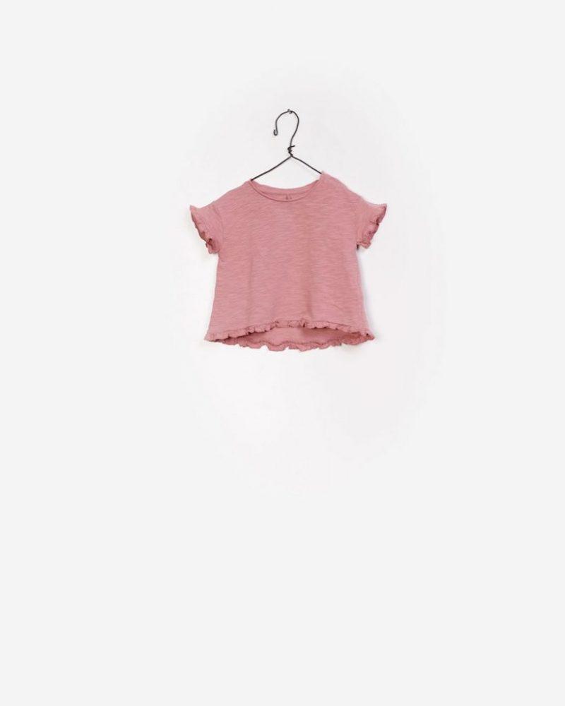 Play Up camiseta de niña evasé en algodón orgánico