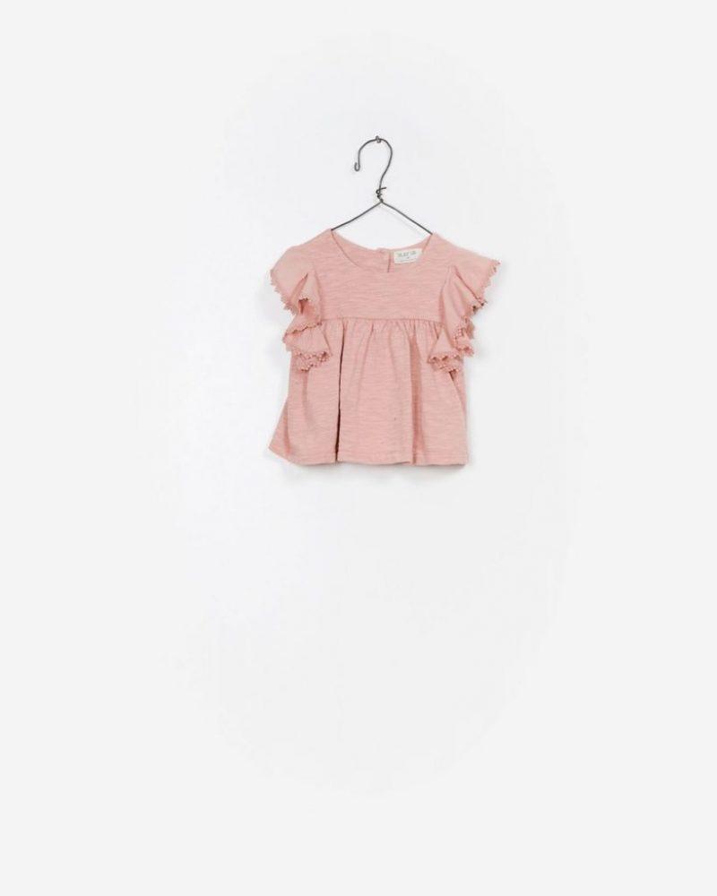 Play Up top en rosa empolvado en algodón orgánico