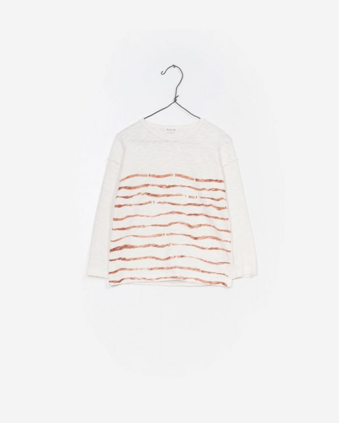 Play Up camiseta de rayas con manga larga en algodón orgánico