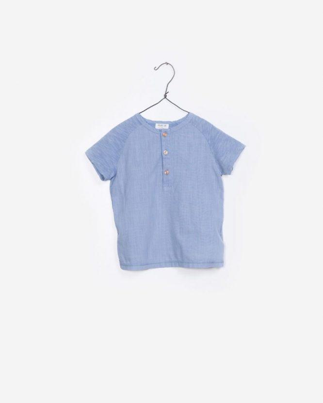 Play Up Camiseta de manga corta para niño con botones en el cuello