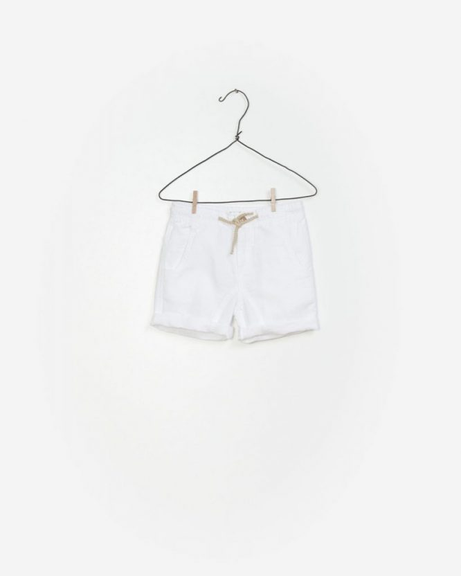 PLAY UP Bermudas blancos de lino