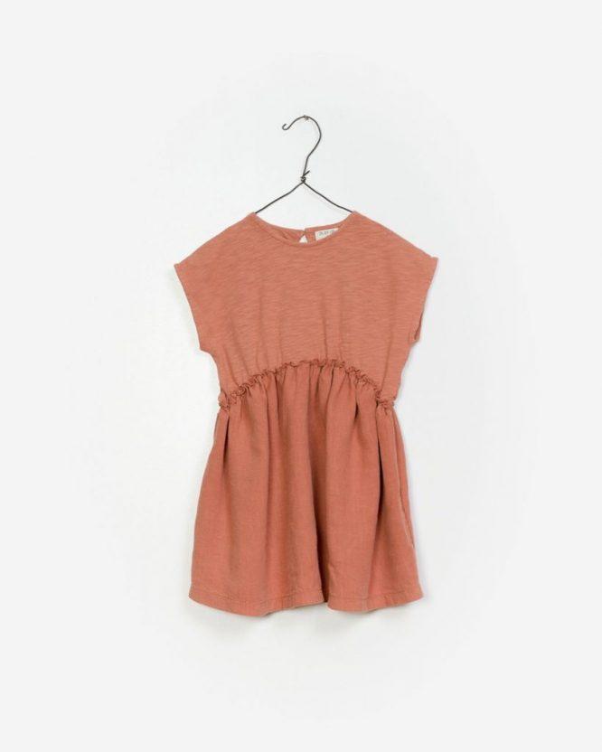 PLay Up vestido de manga corta en lino y algodón
