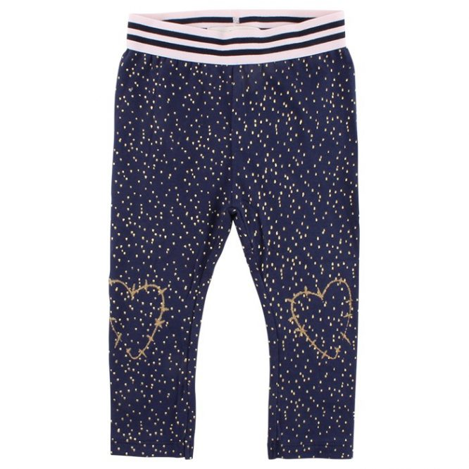 Small Rags leggings estampados con glitter dorado