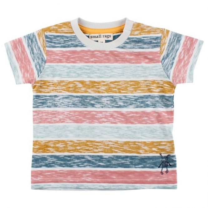 Small Rags camiseta de manga corta de rayas multicolor