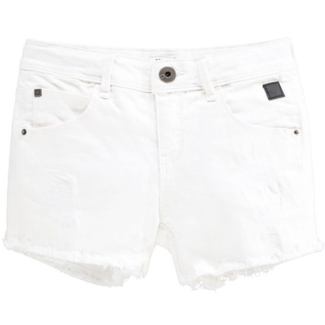 Tumble and dry shorts vaqueros blancos