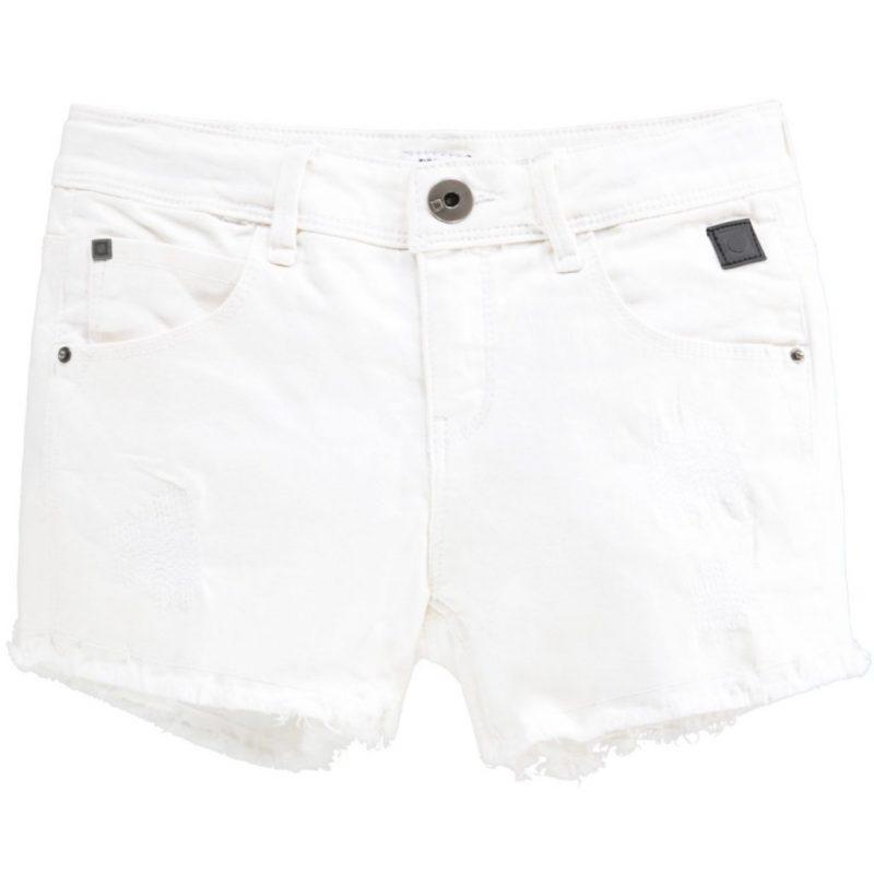 Tumble and dry shorts vaqueros blancos