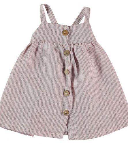 My Little Cozmo Vestido de rayas en lino
