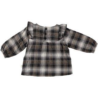 Blusa de cuadros de bebé de My Little Cozmo - detrás
