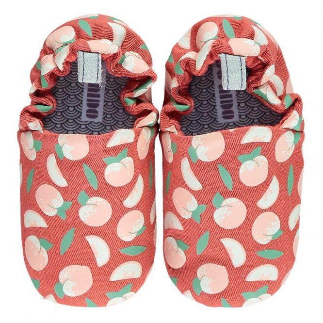 Poco Nido zapatos flexibles con estampados de melocotones