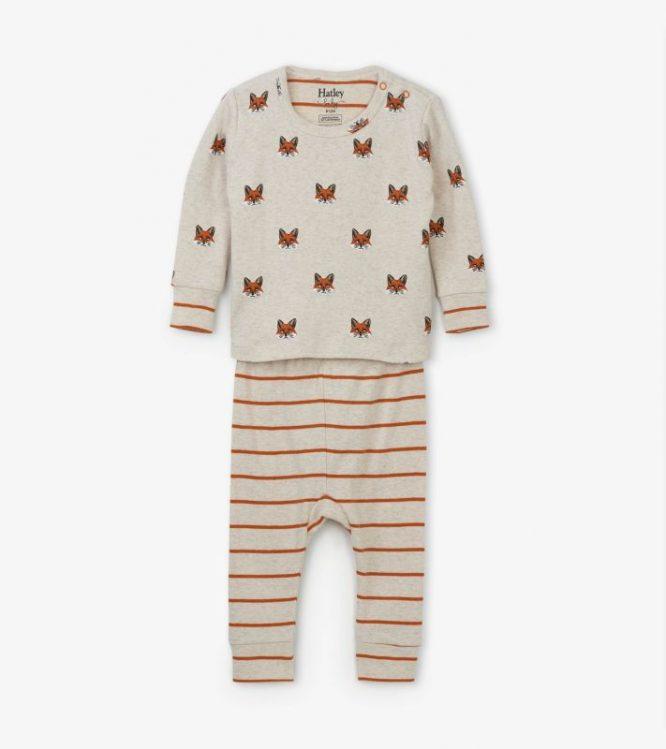 Hatley pijama estampado de algodón orgánico