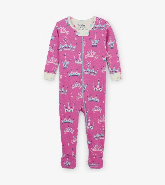 Hatley pijama de estampado de algodón orgánico