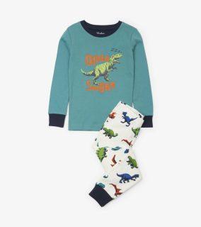 Hatley pijama de dinosaurios en algodón orgánico