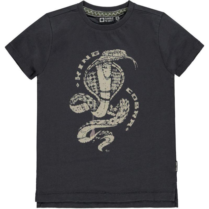 Tumble and Dry camiseta de algodón orgánico con look envejecido