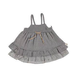 Petit Indi Vestido de tirantes con cuadritos vichy