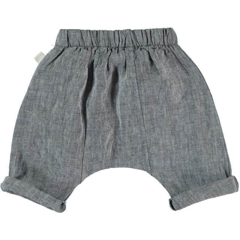 My Little Cozmo Pantalones de lino de bebé - detrás
