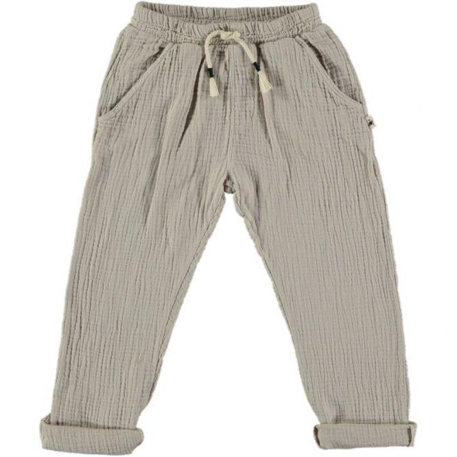 My Little Cozmo - Pantalones lisos de bambula