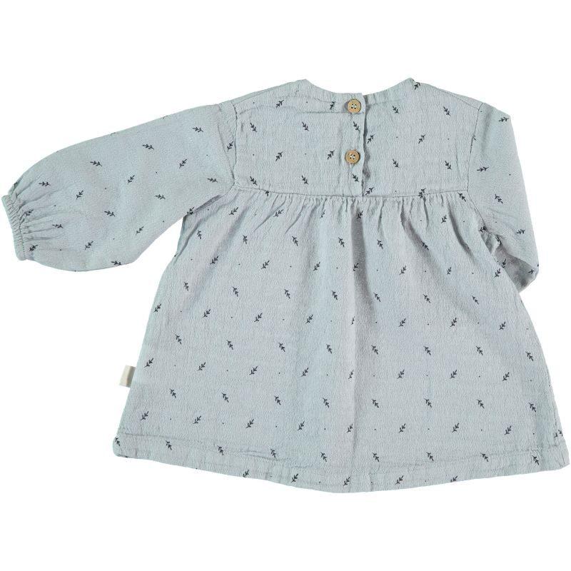 My Little Cozmo Vestido de algodón de manga larga - detrás
