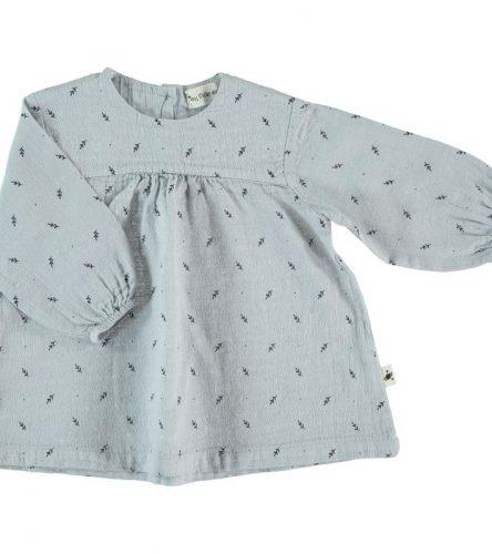 My Little Cozmo Vestido de algodón de manga larga - delante