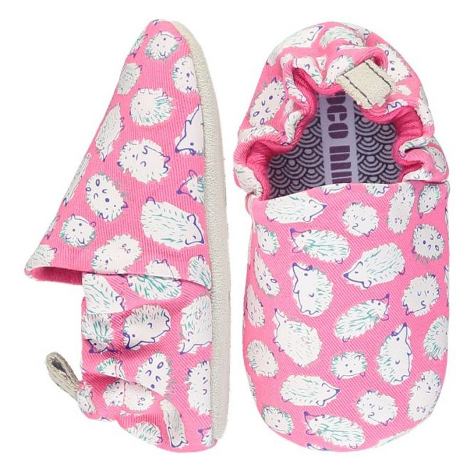 Poco Nido -Zapatos flexibles estampados con adorables erizos