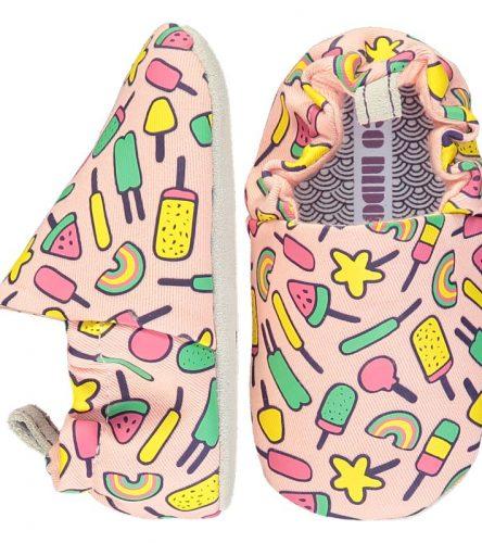 Poco Nido -Zapatos flexibles estampados con refrescantes helados multicolor