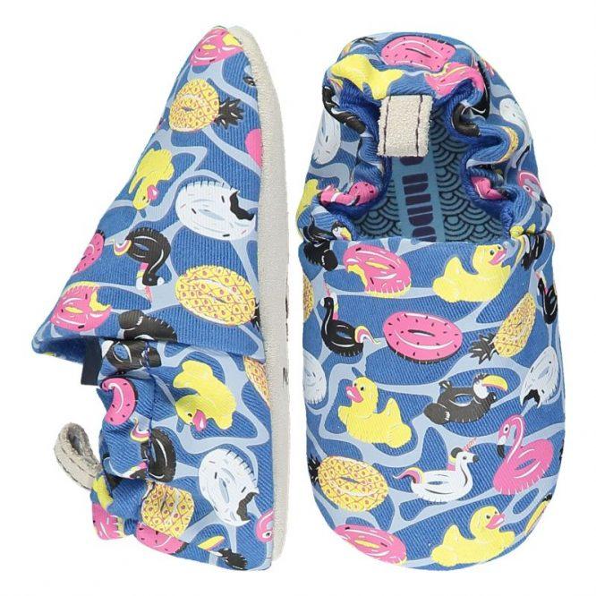 Poco Nido -Zapatos flexibles estampados con flotadores y patitos de goma