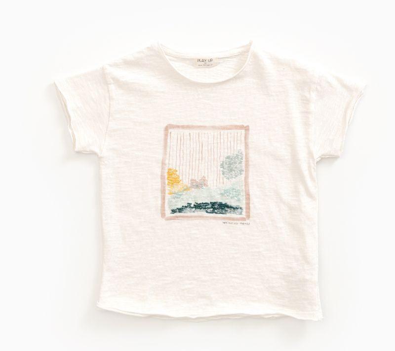 Play Up Camiseta estampada en algodón orgánico