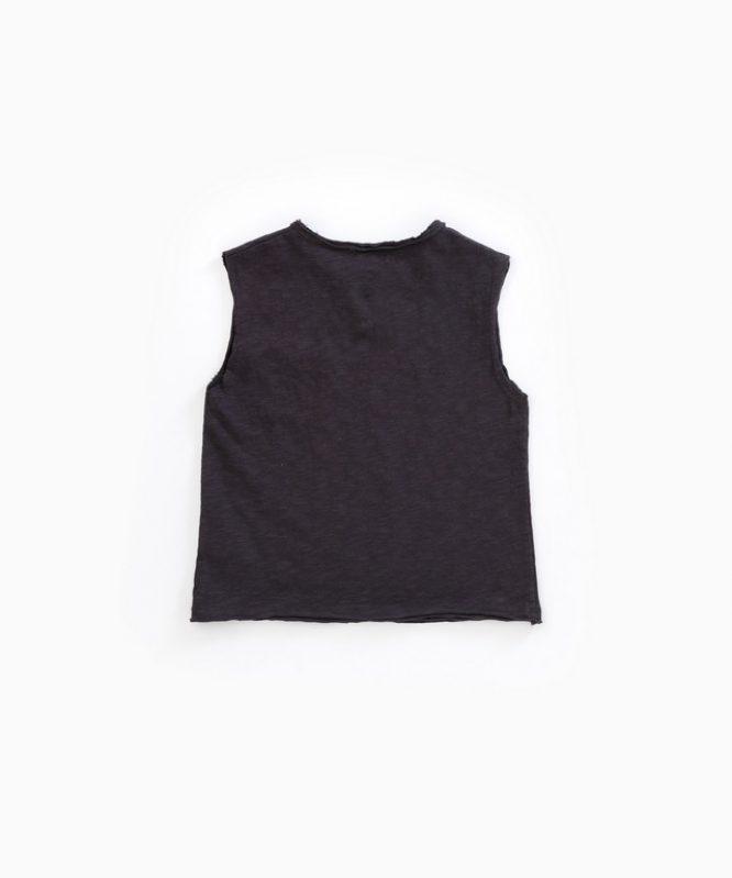 Camiseta de algodón orgánico sin mangas de Play Up - detrás