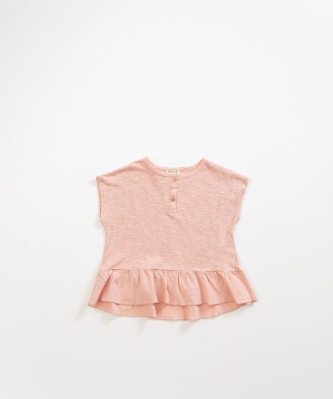 Romántico top rosa de algodón orgánico de Play Up