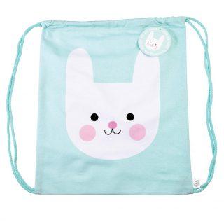Mini mochila de algodón estampada con conejito de Rex London