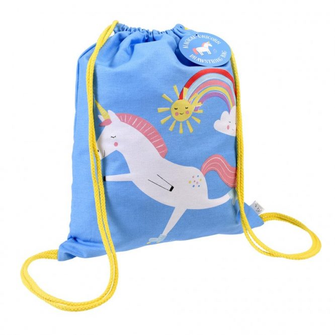 Mini mochila de algodón estampada de Rex London