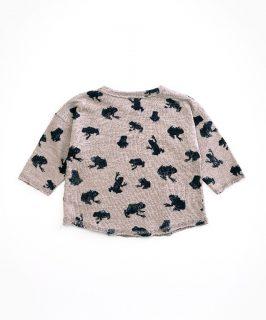 Camiseta estampada de algodón orgánico para bebé de Play Up - detrás