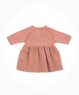 Vestido de bebé con algodón orgánico de Play Up - detrás