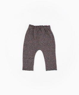 Legging de rayas en algodón orgánico de Play Up - detrás