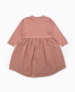 Vestido de niña de algodón de Play Up - detrás