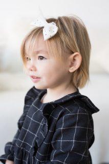 Vestido de cuadros de niña de la marca Petit Indi