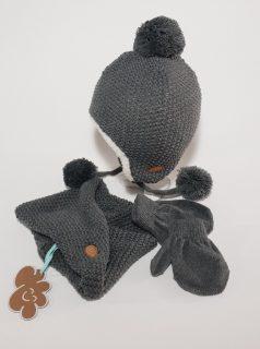 Conjunto de gorro, bufanda y guantes para bebé de Monnuage