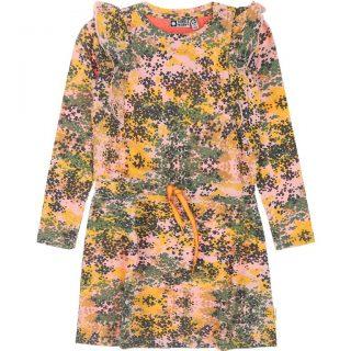 Vestido estampado de niña en algodón orgánico de Tumble & Dry