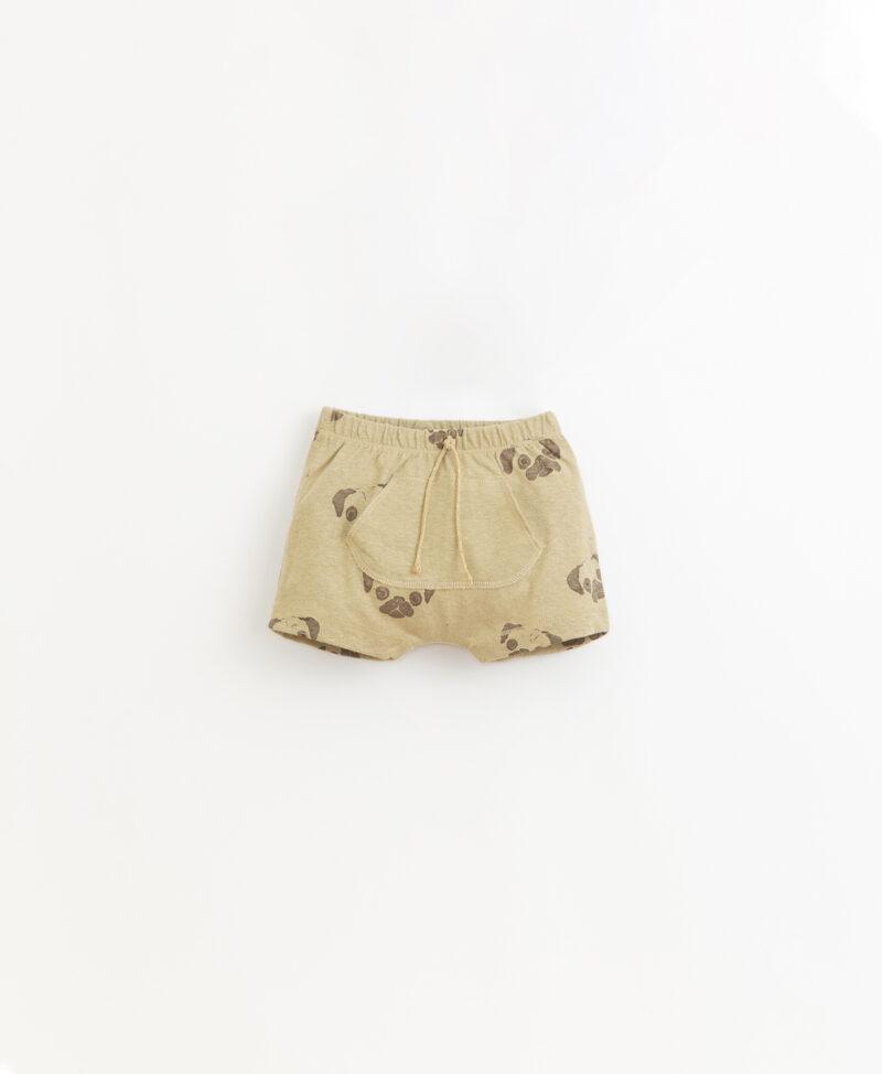 Pantalón corto en algodón y lino de Play UP