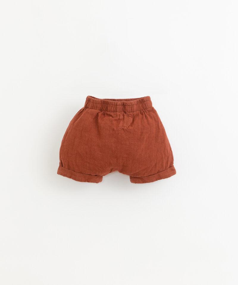 Pantalones de lino para niños de Play Up - detrás